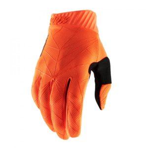 100% Handskar Ridefit Neonorange/Svart