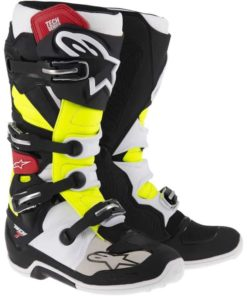 Crosstövel Alpinestars Tech 7 Svart/Röd/Gul