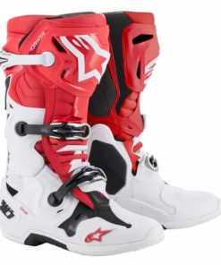 Crosstövel Alpinestars Tech 10 Röd/Vit/Svart