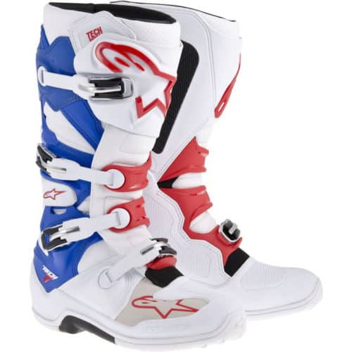 Crosstövel Alpinestars Tech 7 Vit/Blå/Röd