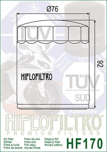 1x Hiflo Ölfilter HF171C Harley Davidson FLHR 1450 Road King